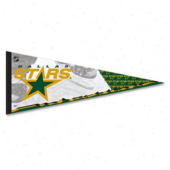 Dallas Stars Green-gold 12'' X 30'' Premium Felt Pendant