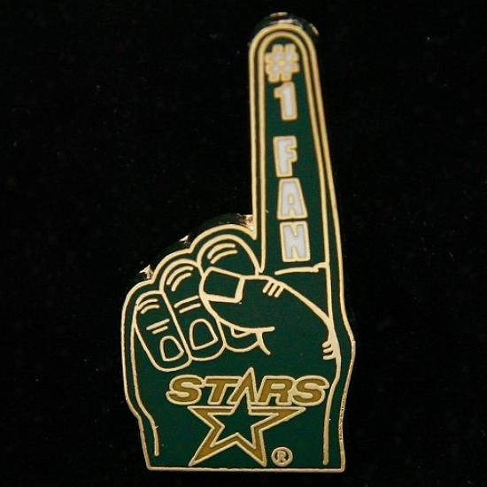 Dallas Stars Hat : Dallas Stars #1 Fan Pin