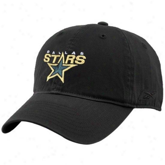 Dallas Stars Hat : Reebok Dallas Stars Black Unstructured Slouch Hat