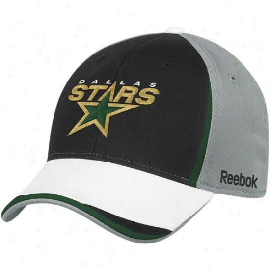 Dallas Stars Hat : Reebok Dallas Stars Gray-black Nhl 2010 Draft Dag Flex Fit Cardinal's office