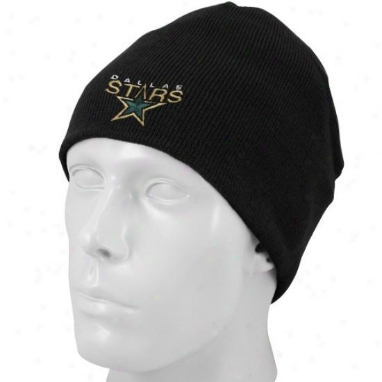Dallas Stars Hats : Reebok Dallas Stars Black Basic Logo Knit Beanie