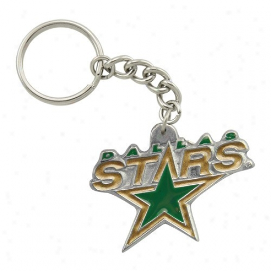 Dallas Stars Pewter Primary Logo Keychain