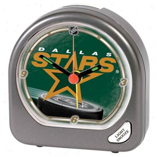 Dallas Stars Plastic Alarm Clock