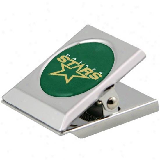 Dallas Stars Silver Magnetic Oppressive Duty Chip Clip