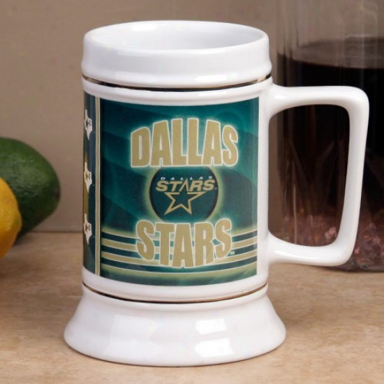 Dallas Stsrs Slapshot 28oz. Ceramic Stein
