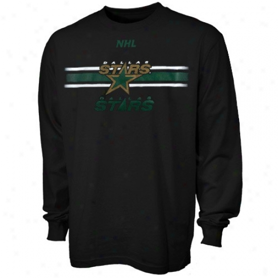 Dallas Stars T-shirt : Majestic Dallas Stars Wicked Earned Victory Long Sleeve T-shirt