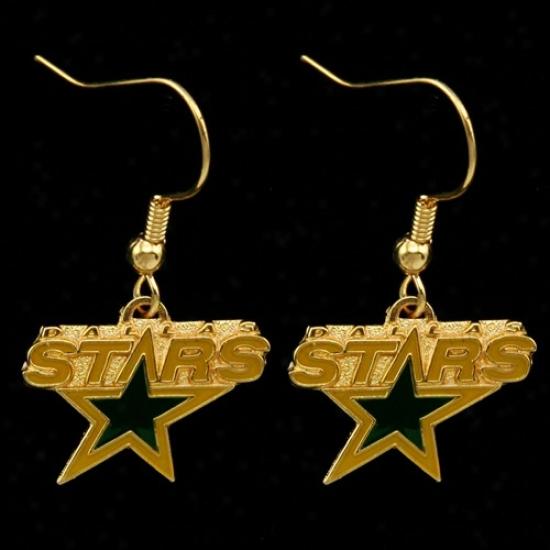 Dallas Stars Team Logo Dangle Earrings