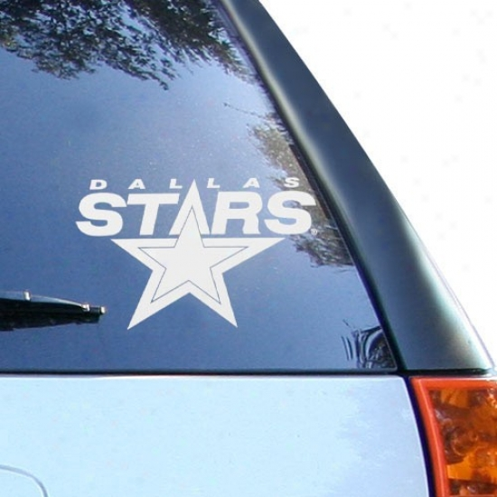 Dallas Sttars White 8'' X 8'' Logo Decal