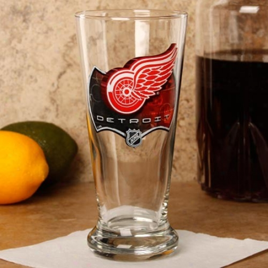 Detroit Red Wings 16.5 Oz. Enhanced Hi-def Flared Pilsner Glass