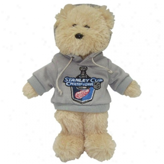 """detroit Red Wings 2008 Stanley Cup Champions 8"""" Hoody Bear"""