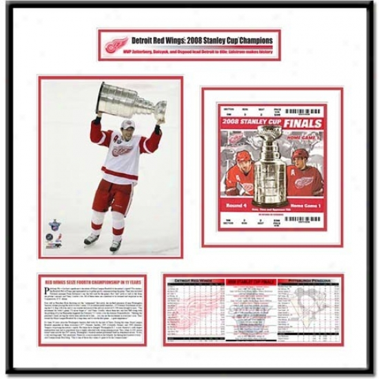 Detroit Red Wings 2008 Stanley Cup Finals Datsyuk With Cup Ticket Frame