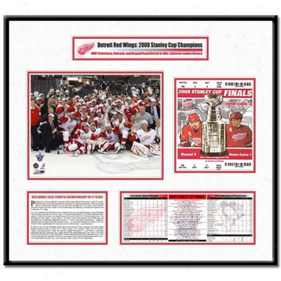 Detroit Red Wings 2008 Stanley Cup Ticket Frame