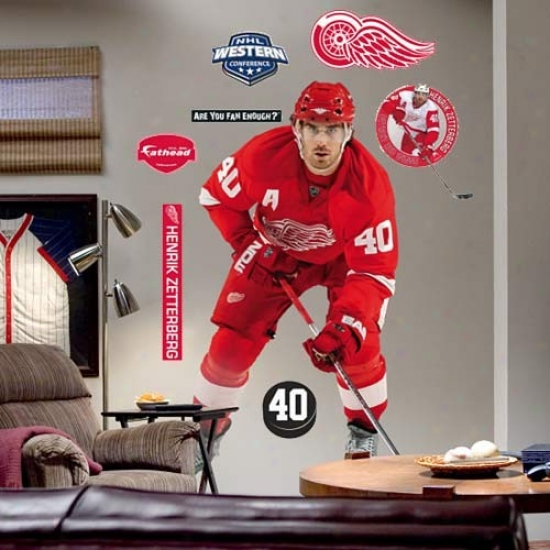 Detroit Red Wings #40 Henrik Zetterberg Playef Fathead
