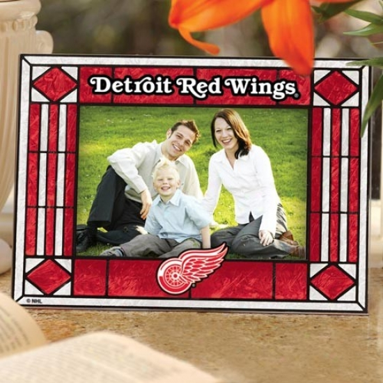 Detroit Red Wings Art-glass Horizontal Image Frame