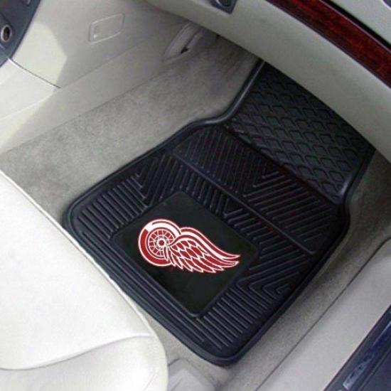 Detroit Red Wings Black 2-piece Vinyl Car Mat Set