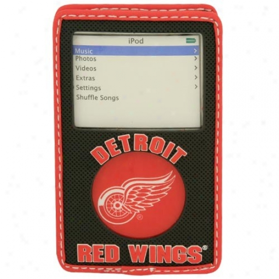 Detroit Red Wings Black Game Wear Hockey Puck Ipod Case