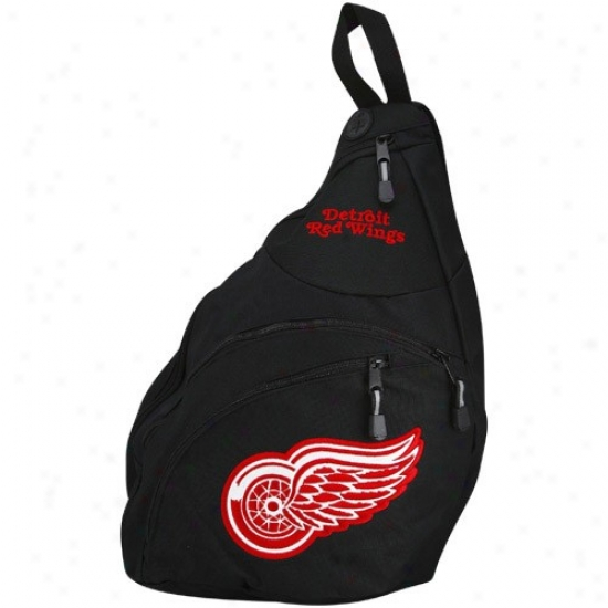 Detroit Red Wings Black Slingshot Badkpack