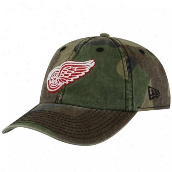 Detroit Red Wings Cap : New Ers Detroit Red Wings Camo Foxhole Adjustable Cap