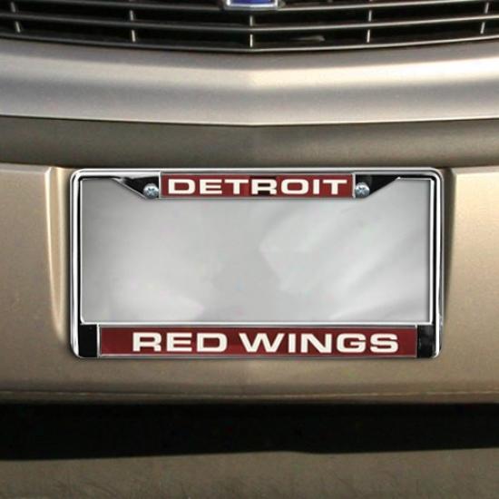 Detroit Red Wings Chrome License Plae Frame