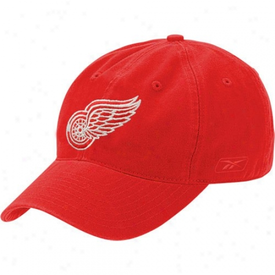 Detroit Red Wings Hats : Reebok Detroit Red Wings Red Face Of Slouch Flex Fit Hts