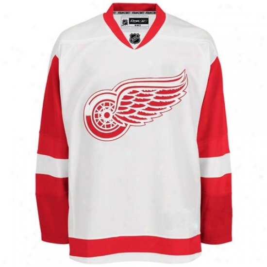 Detroit Red Wings Jersey : Reebok Detroit Red Wings White Authentic Nbl Jersey