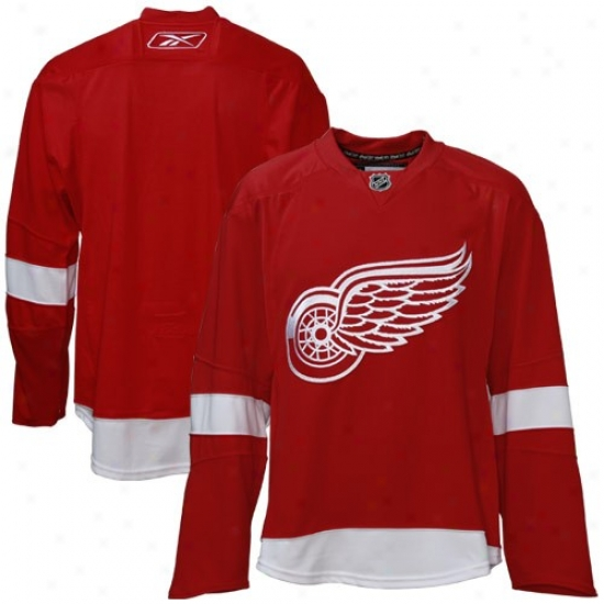 Detroit Red Wings Jersey : Reebok Detroit Red Wings Red Authentic Nhl Jersey
