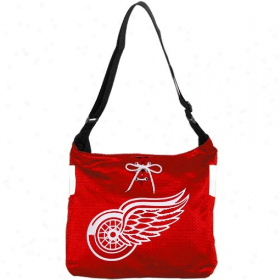 Detroit Red Wings Ladies Red Mvp Jersey Tote Bag