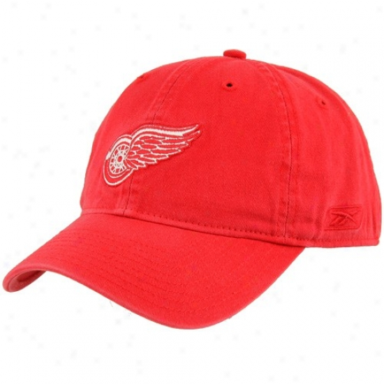 Detroit Red Wings Merchandise: Reebom Detroit Red Wings Red Unstructured Slouch Hat