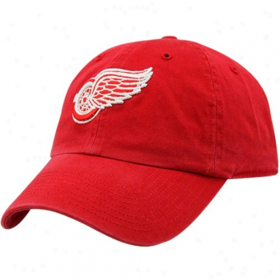 Detroit Red Wings Merchandise: Twins Enterprise Detroit Red Wings Red Hockey Franchise Fitted Hat