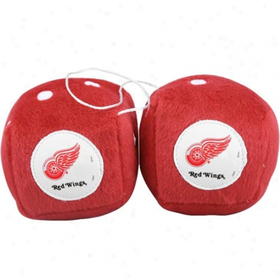 Detroit Red Wings Plush Team Fuzzy Dice