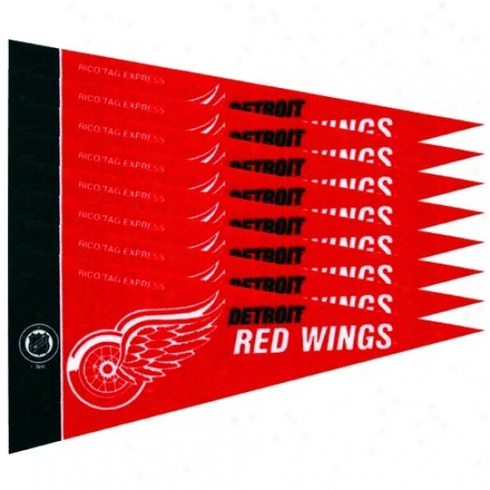 Detroit Red Wings Red 8-pack Mini Pennant Set