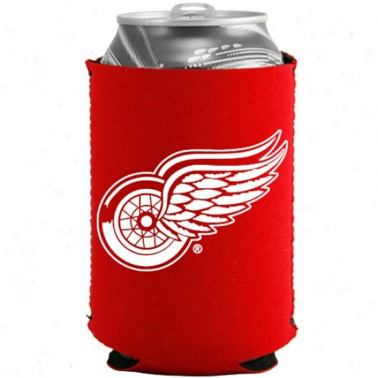 Detroit Red Wiings Red Collapsible Can Coolie