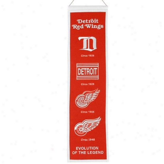 Detroit Red Wings Red Heritage Banner