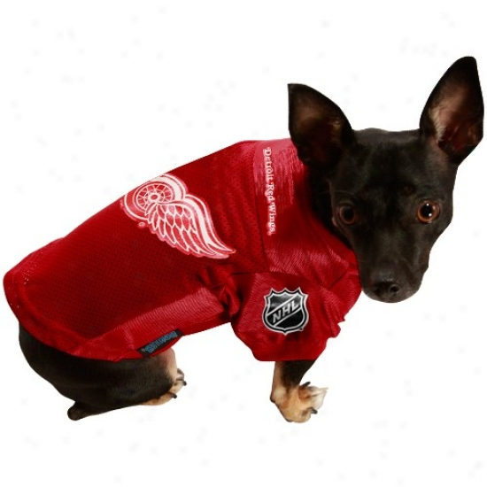 Detroit Red Wings Red Mesh Pet Jersey