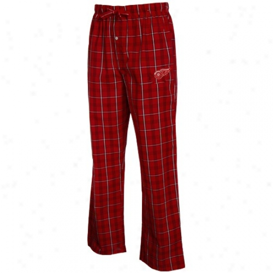 Detroit Red Wings Red Plaid Pure Pajama Pants
