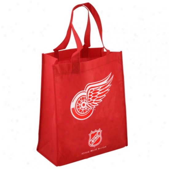 Detroit Red Wings Red Reusable Tote Bag
