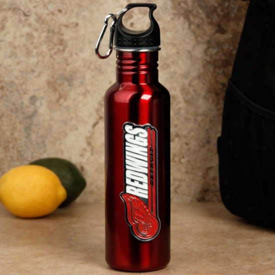 Detroit Red Wings Red Stainless Steel Water Bottle