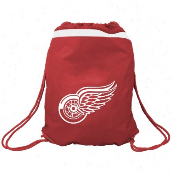 Detroit Red Wings Red Team Logo Drawstring Backpack