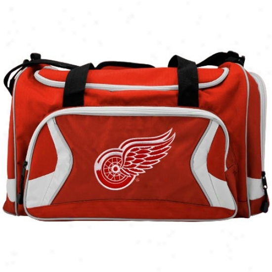 Detroit Red Wings Red Team Logo Duffle Bag