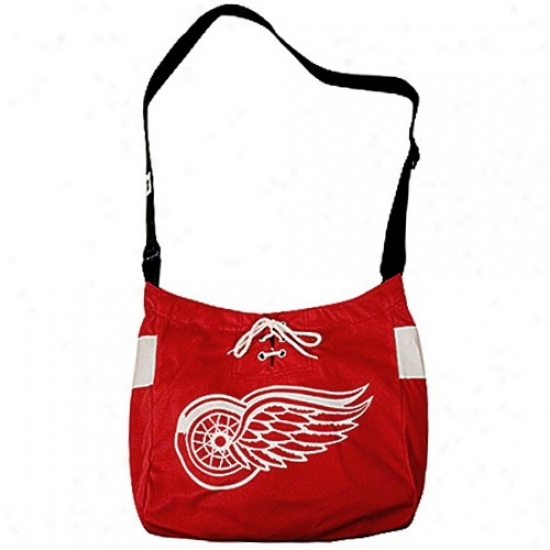Detroit Red Wings Red Veteran Jersey Tote Bag