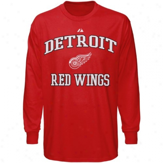 Detroit Red Wings Shirts : Majestic Detroit Red Wings Red Heart And Soul Ii Shirts