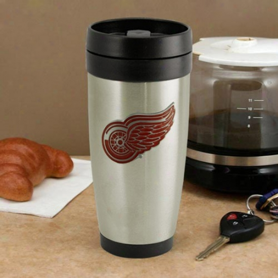 Detroit Red Wings Stainless Steel Team Logo Travel Tumbler