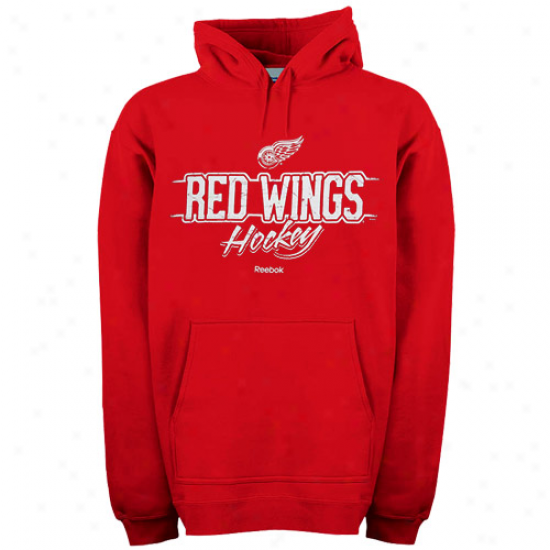 Detroit Red Wings Sweat Shirt : Reebok Detroit Red Wings Red Allegiance Pullover Sweat Shhirt