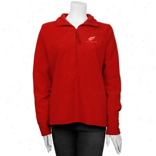 Detroit RedW ings Sweatshirts : Antigua Detroit Red Wings Red Ladies Plainness Pullover Sweatshirts Jacket