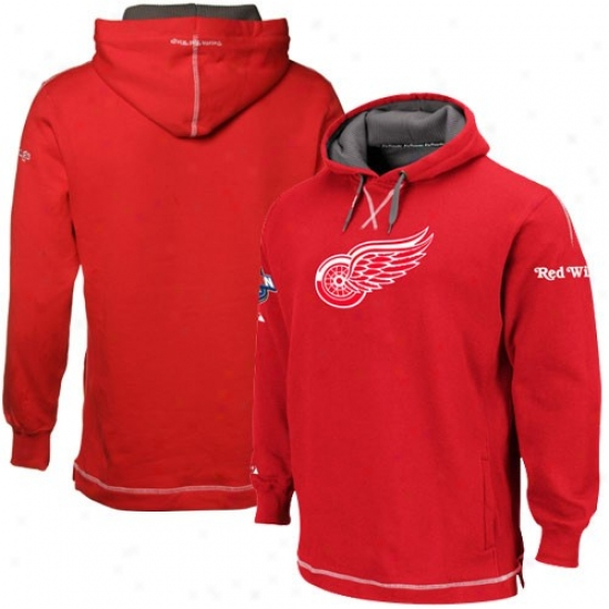 Detrout Red Wings Sweatshirts : Majestic Detroit Red Wings Red The Liberation Pullover Sweatshirts