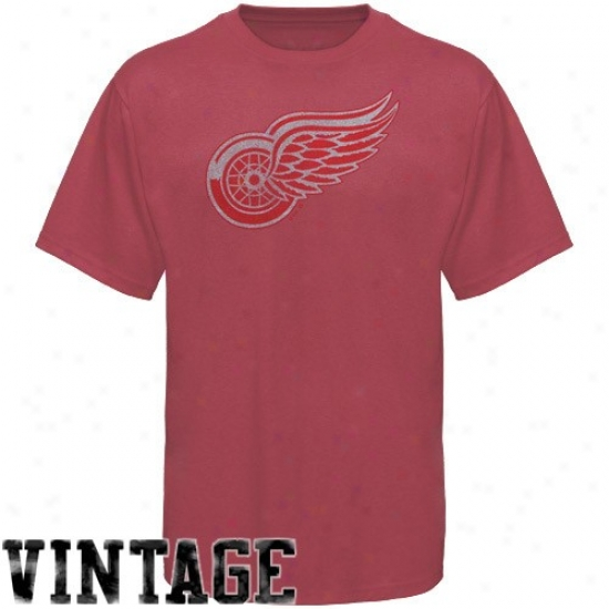 Detroit Red Wings T Shirt : Manestic Detroit Red Wings Youth Heather Red Big Time Play T Shirt