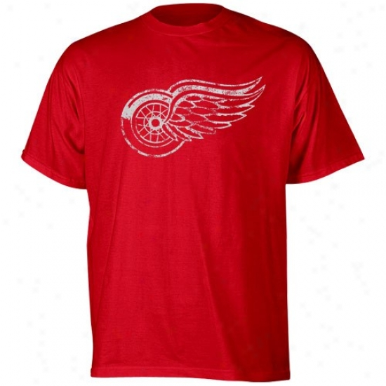 Detroit Red Wings Tees : Reebok Detroit Red Wings Youth Red League Player Tees