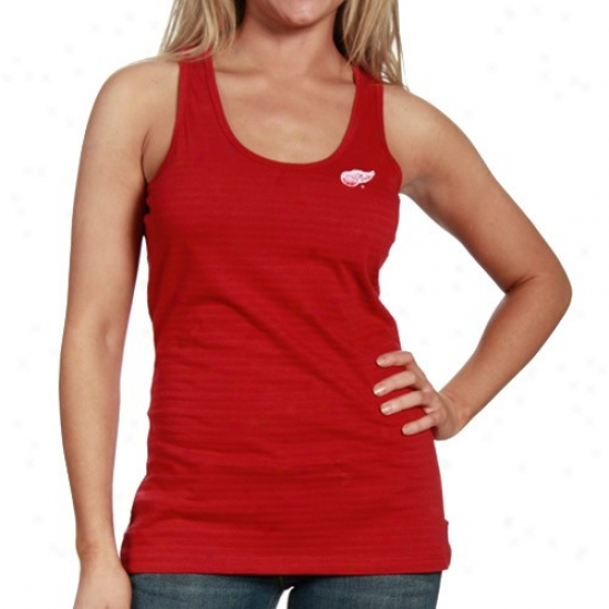 Detroit Red Wings Tshirts : Ahtigua Detroit Red Wings Ladies Red Splencld Premium Tank Top