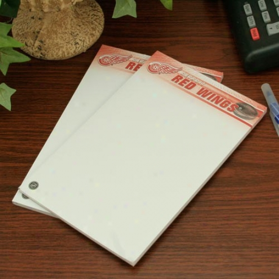 Detroit Red Wings Two-pack 5'' X 8'' Team Logo Notepads