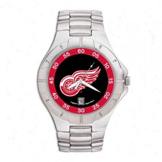 Detroit Red Wings Watch : Detroit Red Wings Men's Pro Ii Watch W/stainless Steell Band